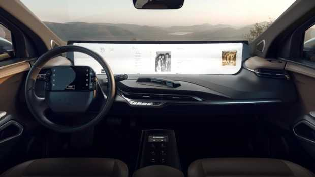 The Byton M-Byte electric SUV will feature a 48-inch wide digital screen.