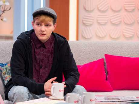 Hayden Cross opened up about his difficult birth on British TV yesterday. Picture: Ken McKay/ITV/Rex/Shutterstock