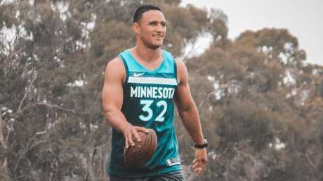 Valentine Holmes is heading to the US to continue his NFL dream. Picture: Instagram