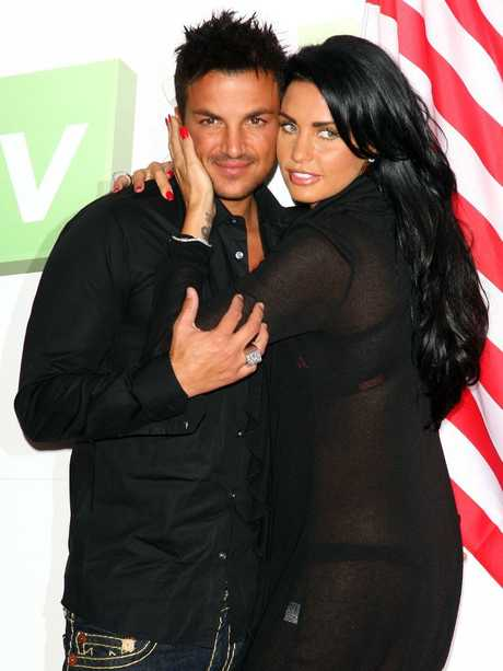 Katie Price and Peter Andre in 2009.