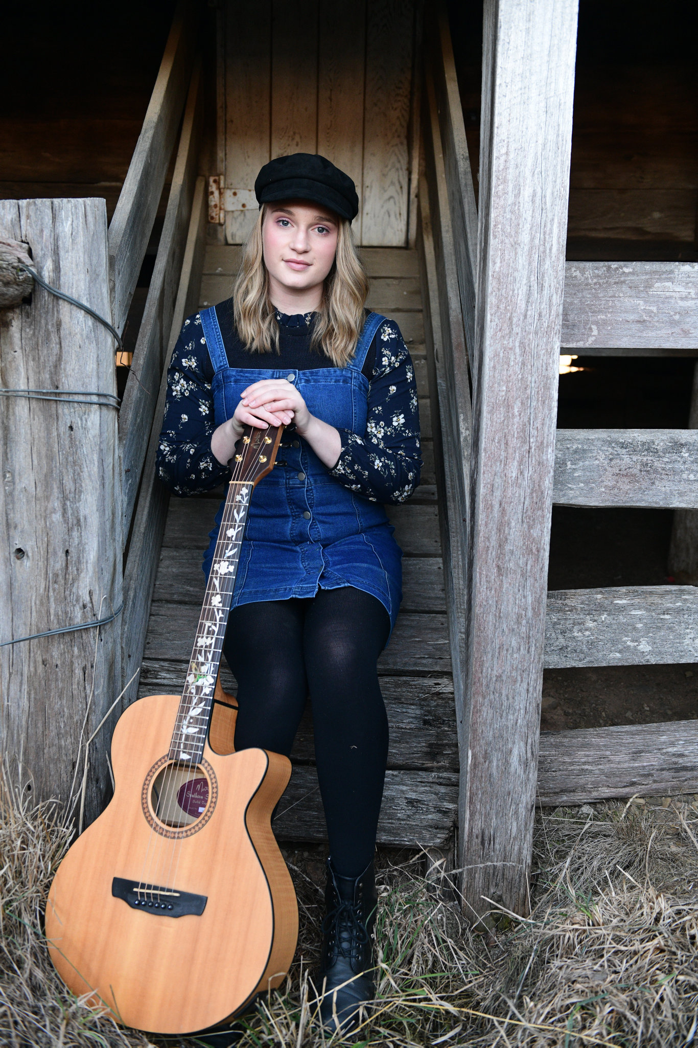 TELLING STORIES: Highfields singer-songwriter Sophie Volp will make her debut at the Tamworth Country Music Festival at the age of 16.