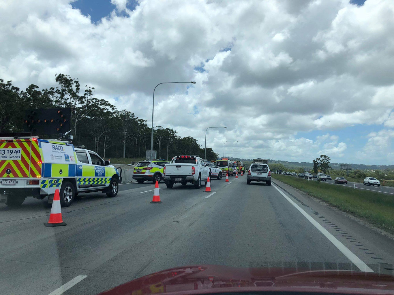 DELAYS: Four-car crash closes one lane of Bruce Hwy