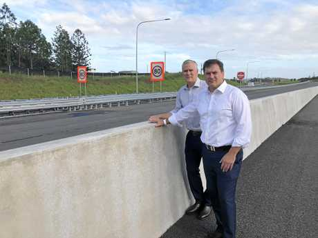 Deputy PM Michael McCormack and Wide Bay MP Llew O'Brien.