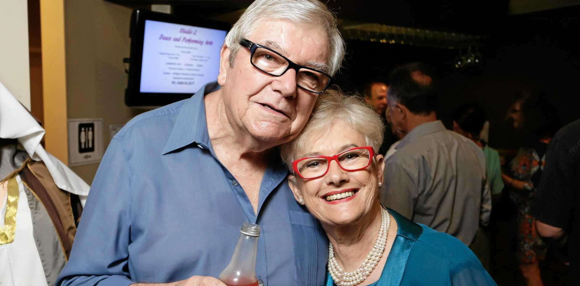 John and Carol Burls at the The Lind Theatre Nambour opening night of The Making Of The Great Lover.