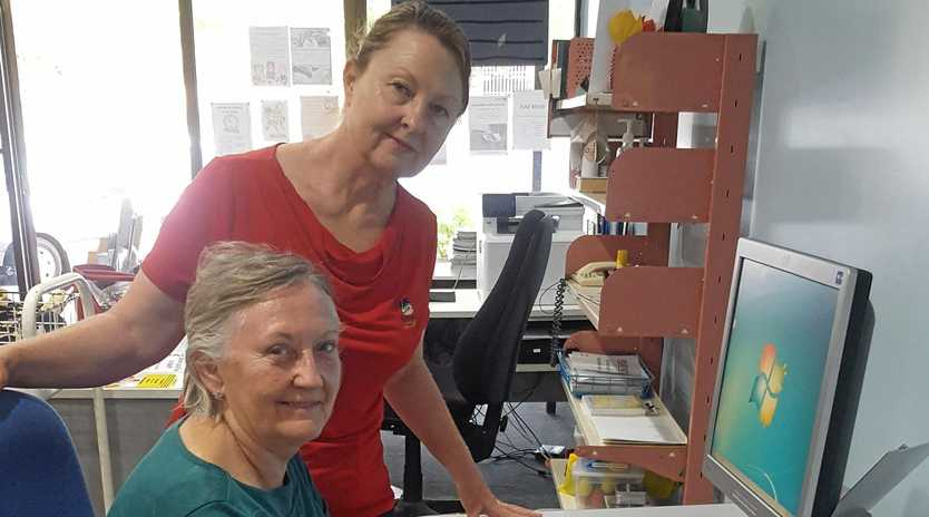 DIGITAL LITERACY: Sylvia Holgate was learning new technology life skills with Banana Shire Council Taroom Library staff member Sheree Rose.