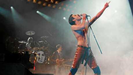 Rami Malek pictured in Bohemian Rhapsody, his Golden Globe award-winning performance as Freddie Mercury.