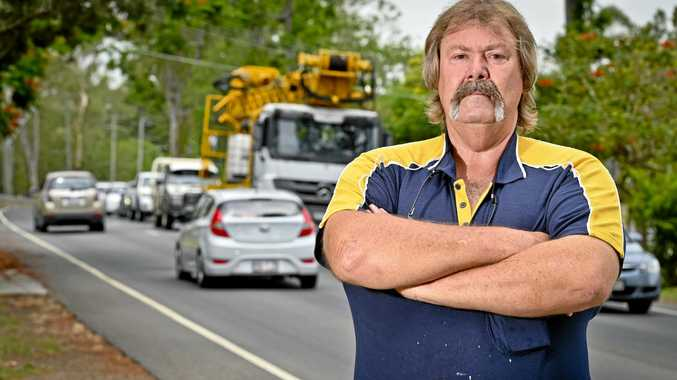 Wayne Corbett is concerned about trucks using his road.