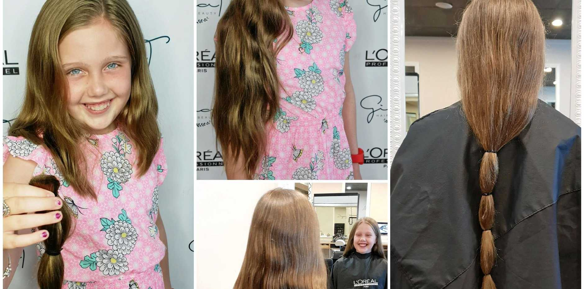 Amarni Russell has donated her hair to charity.