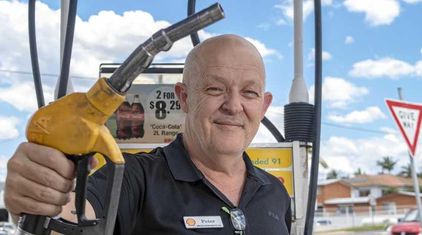 Peter OBrien, Gatton Petroleum, has felt the strain to increase fuel prices.