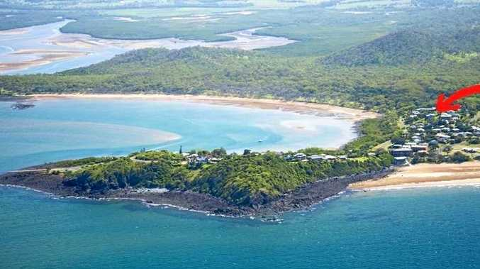 Sarina Beach inlet, the proposed site of the development.
