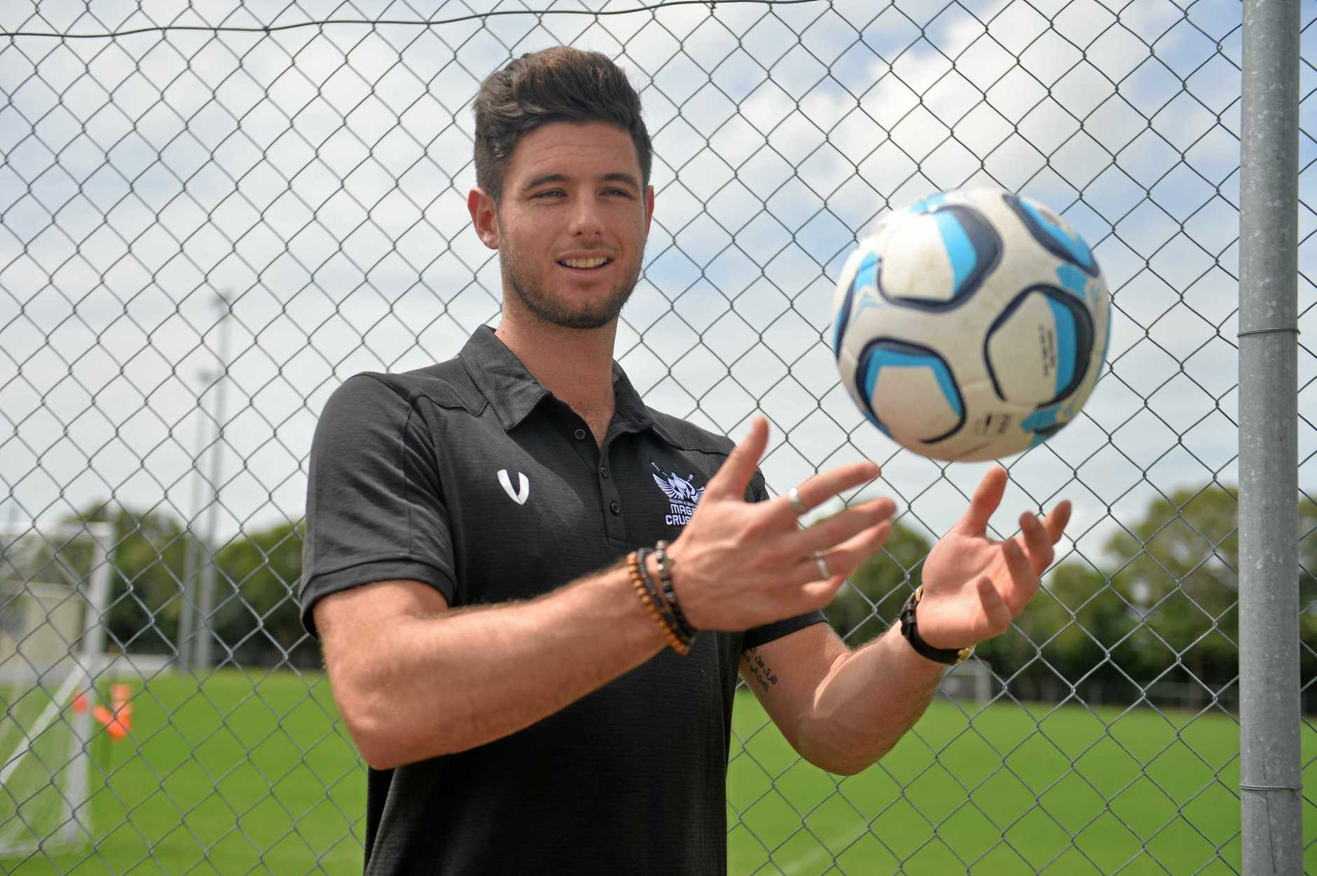 New Magpies Crusaders centre-back Shane McInerney arrived in Mackay this week.