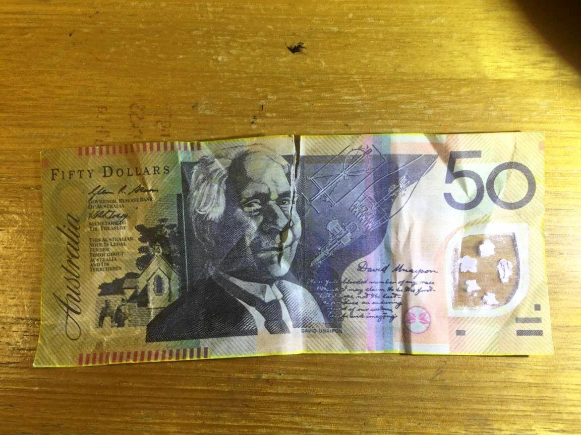 BAD FAKE: An example of what the counterfeit money would hav elooked like.