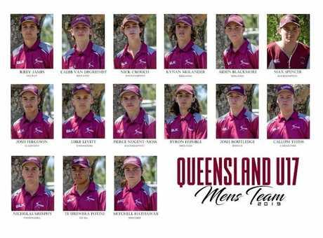 The Queensland U17 Mens Team 2019.