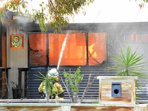 House fire forces authorities to close street