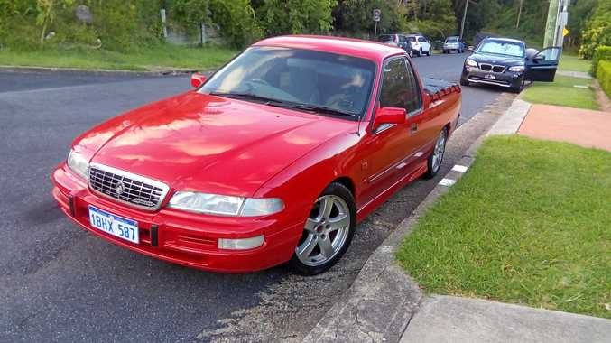Geoff White said the 1998 Holden Commodore ute he had owned for ten years has been stolen, including all his work tools.
