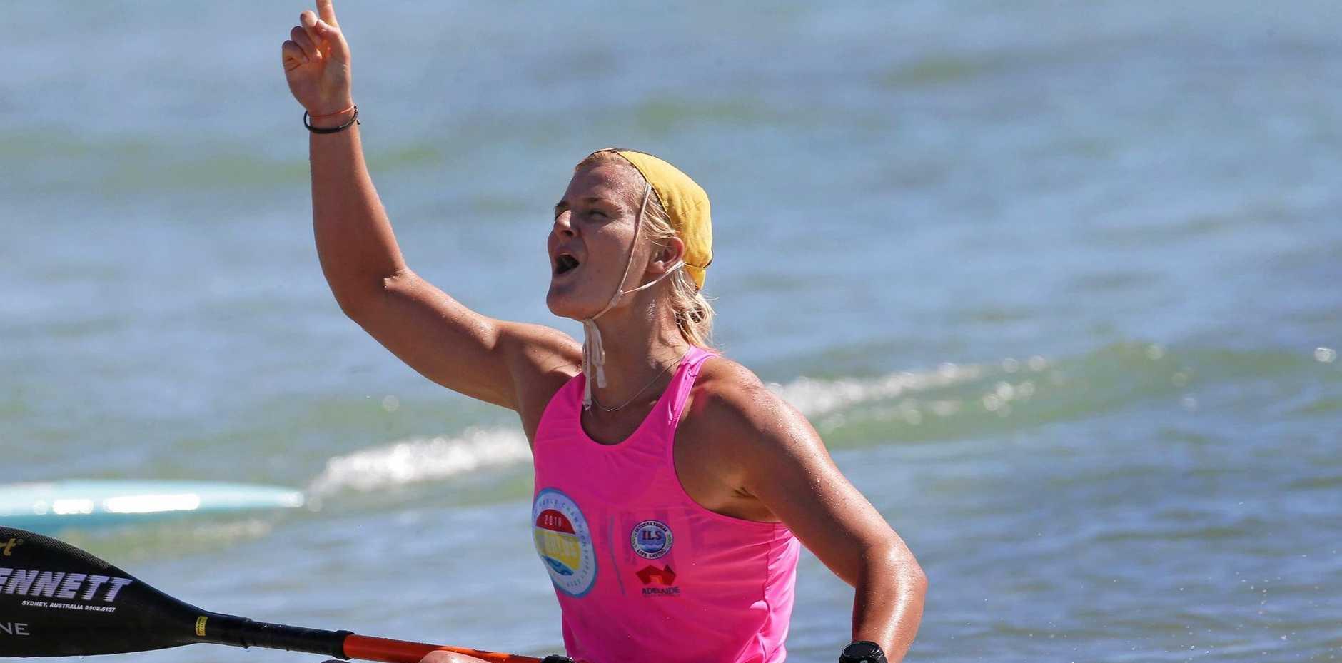CHAMP: Alexandra Headland's Alyssa Bull won a maiden ski title at the Lifesaving World Championships.