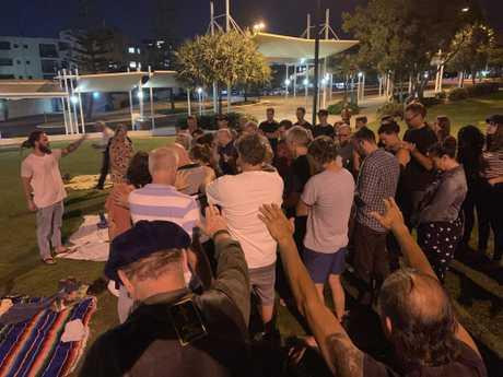 The first grassroots gathering meeting at Caloundra.