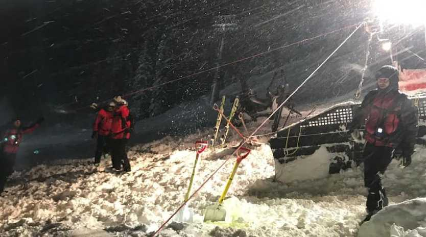 The site of the avalanche tragedy in Austria. Picture: Bergrettung St.Anton am Arlberg