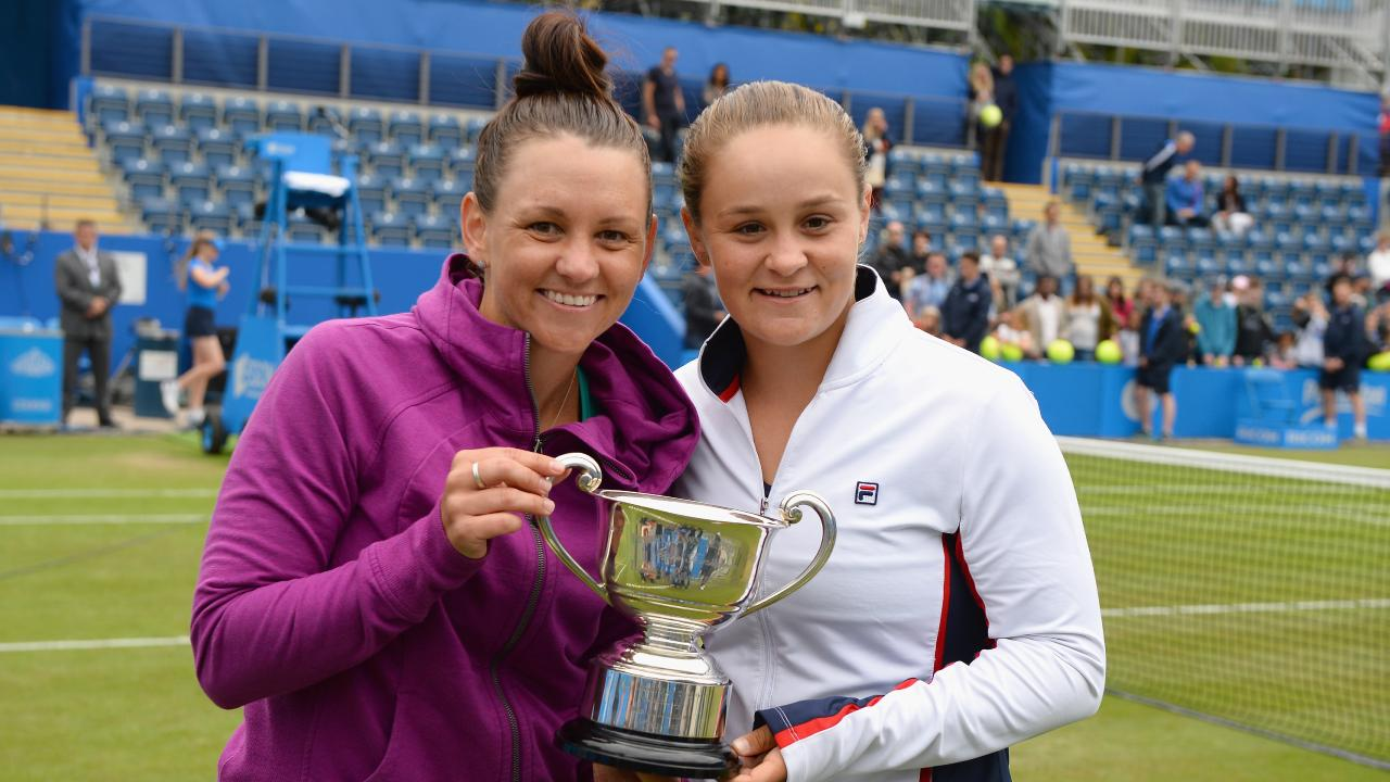 Casey Dellacqua and Ashleigh Barty shared a close bond. Picture: Getty