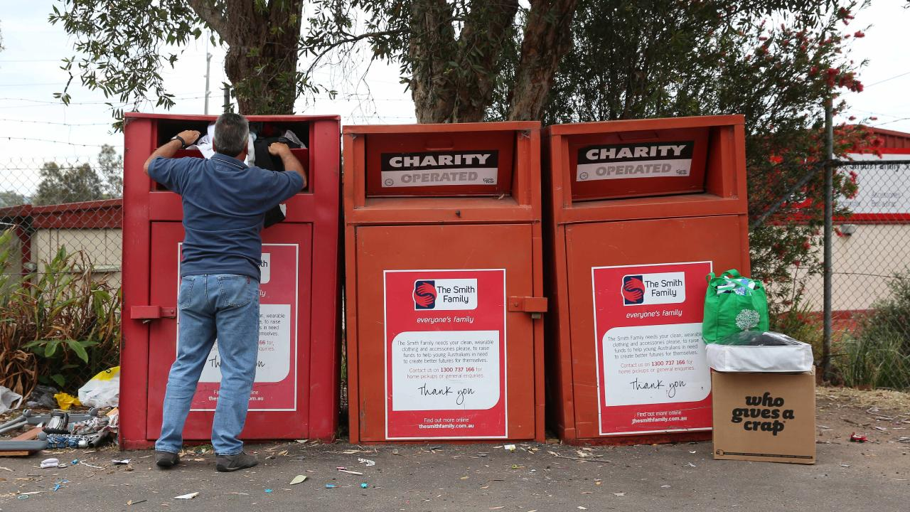 The humble clothing bin could be a 'death trap'. Picture: AAP.