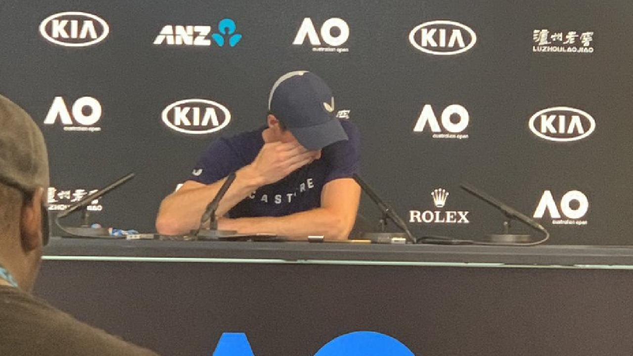 Andy Murray during his press conference