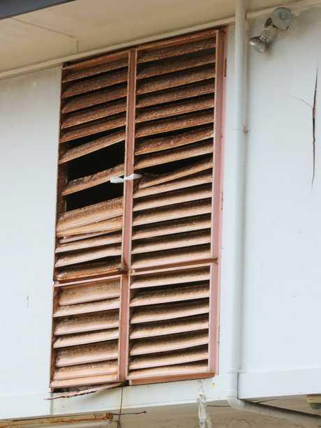 Broken blinds at the property. Picture Glenn Hampson