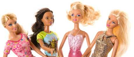 Most dolls, especially Barbie dolls, appear to have overly sexualised poses, clothing and expressions.