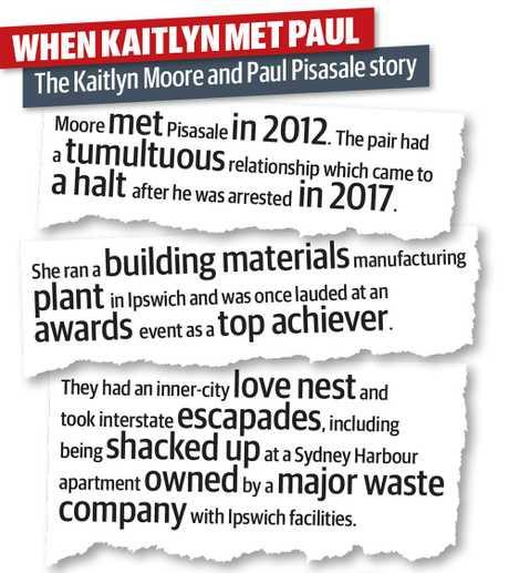 Kaitlyn Moore has revealed how she met former Ipswich mayor Paul Pisasale.