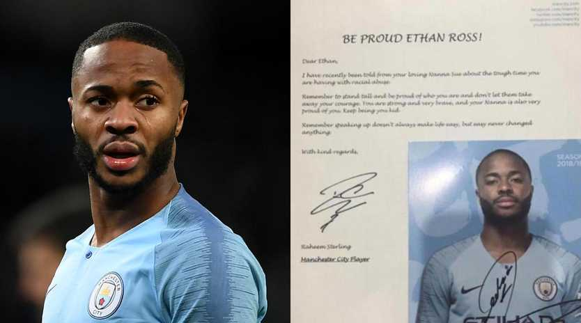 Raheem Sterling has been outspoken has been outspoken against racism this season.