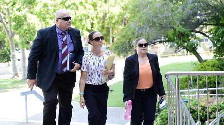 Detective Fred Starr, Forensic Officer Kirsty Griffiths, and Senior Constable Anita Pordage arrive to the courthouse.