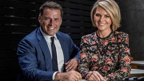 Karl Stefanovic and Georgie Gardner struggled from day one. Picture: Jake Nowakowski