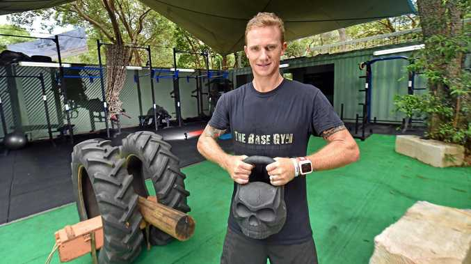 GREAT OUTDOORS: Dave Walsh owner of the new Base Gym at Twin Waters.