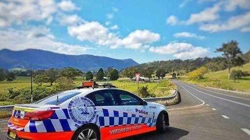 Police highway patrol car