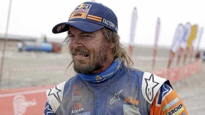 KTM motorbike rider Toby Price of Australia remains a contender at the Dakar Rally. Picture: Ricardo Mazalan/AP