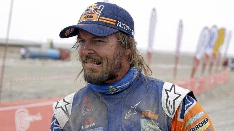 KTM motorbike rider Toby Price of Australia remains a contender at the Dakar Rally. Picture: Ricardo Mazalan/AP
