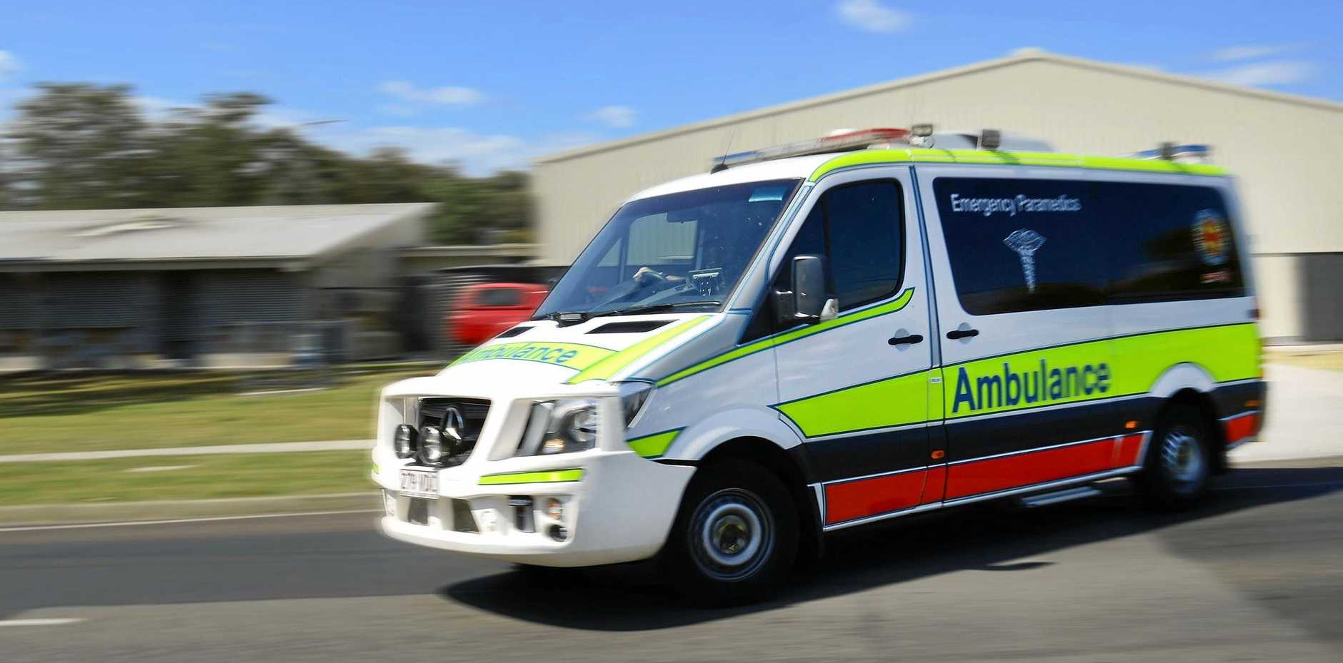 Paramedics were called to the collision on Arthur St in Howard at 6.47pm.