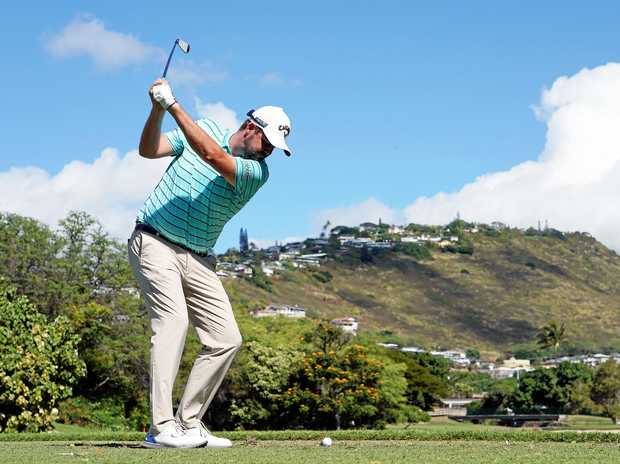 Marc Leishman plays from the seventh tee during the second round of the Sony Open at Waialae Country Club, Honolulu, Hawaii. Picture: Kevin C Cox/Getty Images