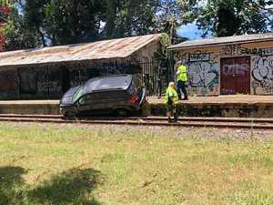Man attempts to flee car crash after fuel theft