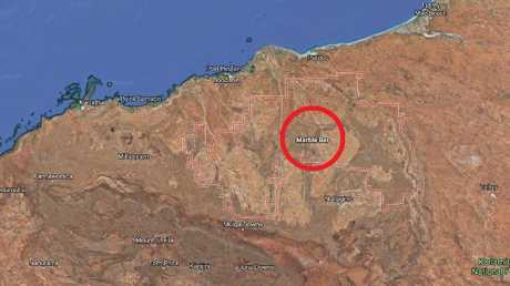 Marble Bar is located in the Pilbara region, south of Port Hedland. Picture: Google Maps.