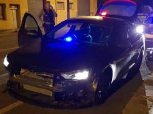 Men escape after ramming police car in stolen BMW