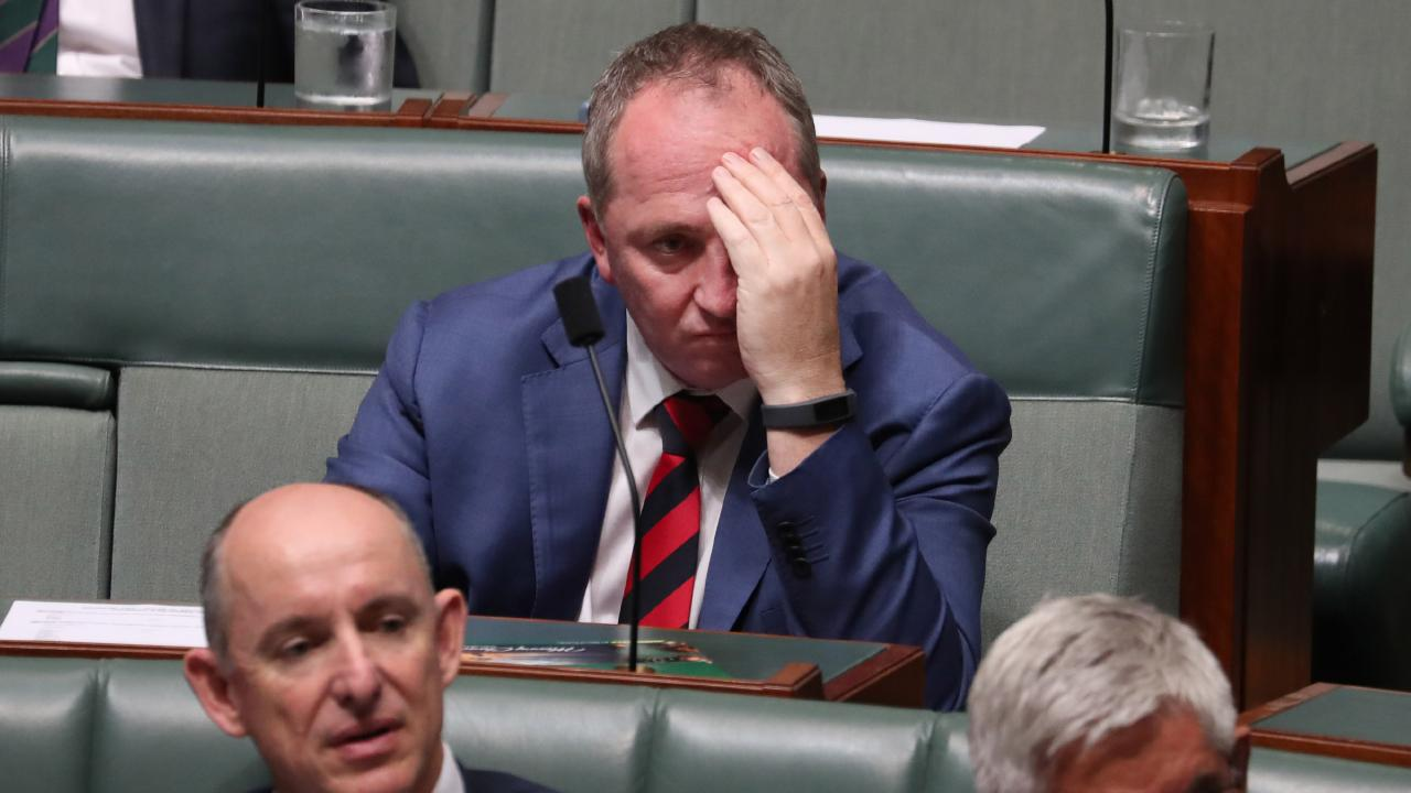 Pants … Lambie says Barnaby Joyce should zip it on hiring family as staff. Picture: Gary Ramage