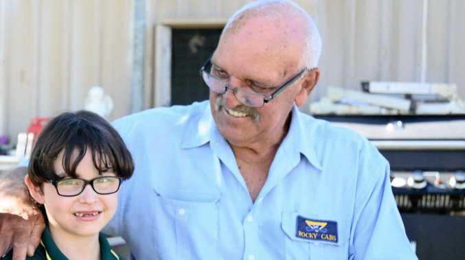 HOWZAT: Azaria Wells with best friend Denis Schuller in 2015 when he was helping her to raise money for brain surgery.
