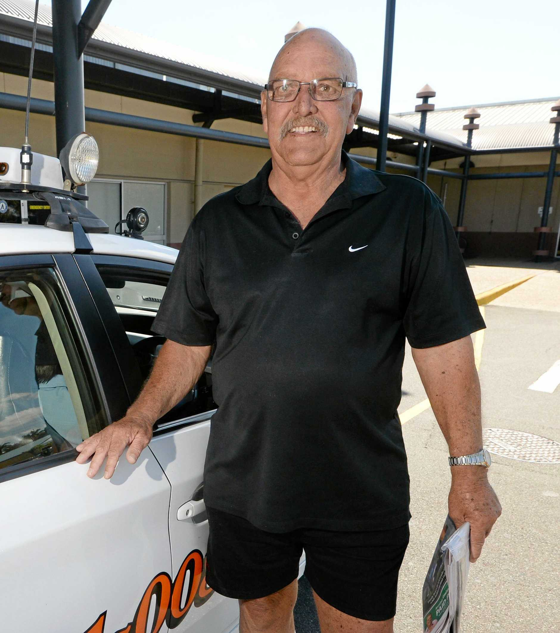 Former Queensland cricket player Denis Schuller now drives a taxi in Rockhampton for a livinig.   Photo: Chris Ison / The Morning Bulletin