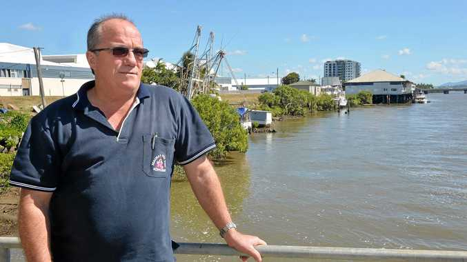 ON SITE: David Caracciolo with the proposed site of 'The Pier' in the background.