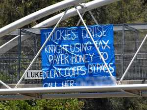 'They're cowards': Mayor slams Pacific Highway sign