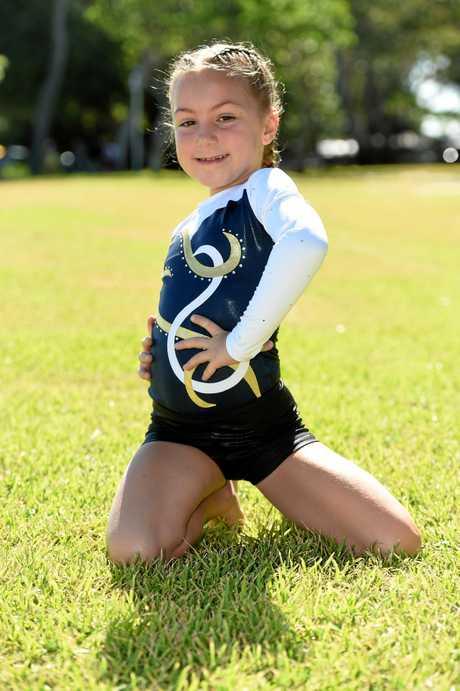 Talented Hervey Bay gymnast Piper Dower (Wide Bay Gymnastics Club).