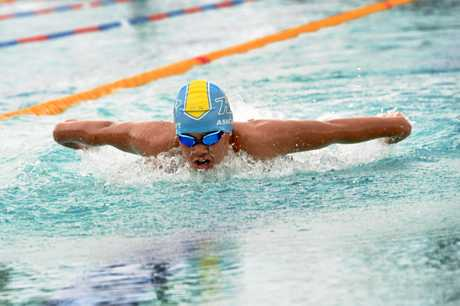 2018 Wide Bay Long Course Regional Championships, Hervey Bay Aquatic Centre - 10-11 year old boys 100m butterfly - Hervey Bay's Keith Ashcroft.