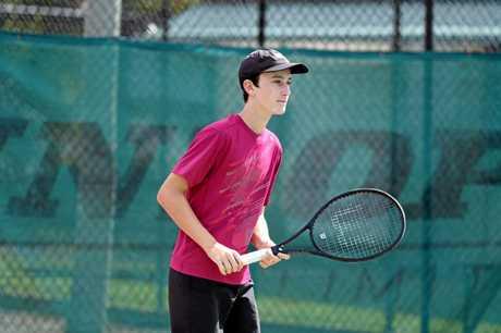 Maryborough tennis player Alec Braund.