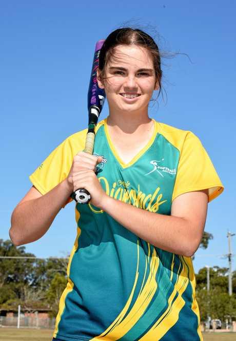 Hervey Bay softball player Savannah Ritter was selected for both Softball Queensland U17s and will tour Japan with Softball Australia's developmental Aussie Diamonds.