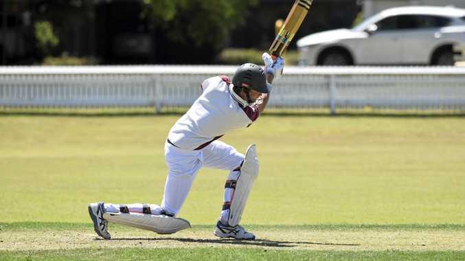 RIGHT INTENT: Brothers Clocktower Hotel middle-order batsman Ben Jurd drives hard in the GDSC Premier League clash against Tucabia-Copmanhurst GI Hotel at Ellem Oval.